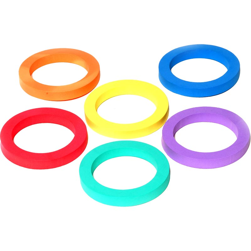 PLAYM8 Foam Ring 6 Pack 15cm