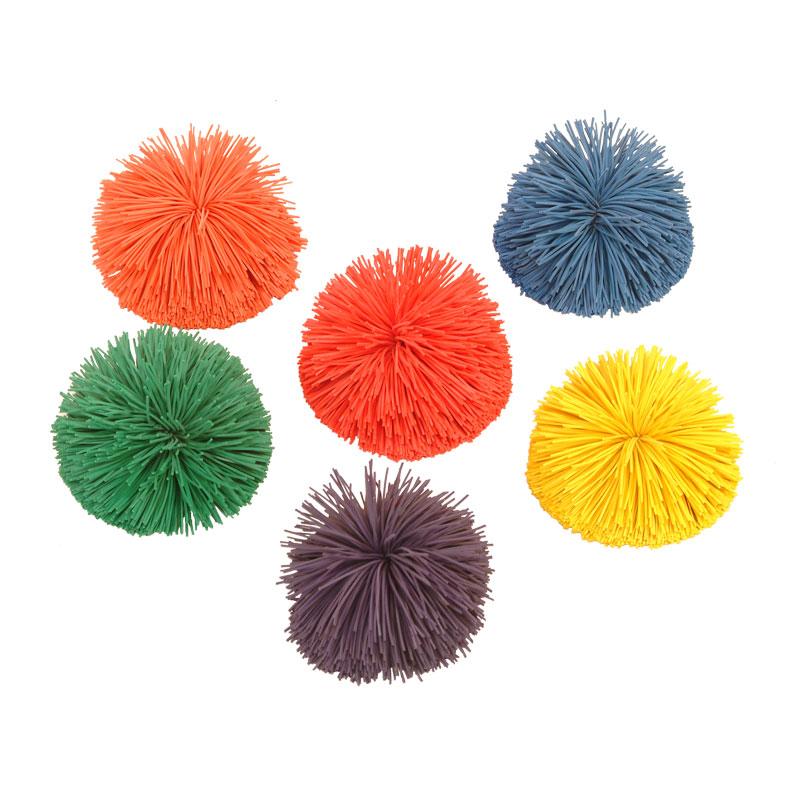PLAYM8 Multi Pom Pom Ball 6 Pack 7cm
