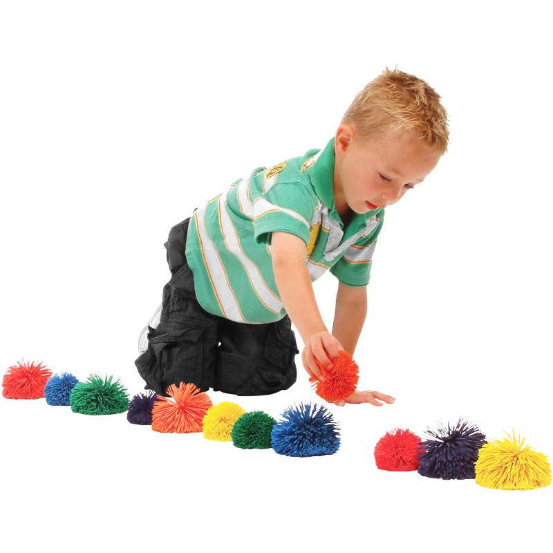 PLAYM8 Multi Pom Pom Ball 6 Pack
