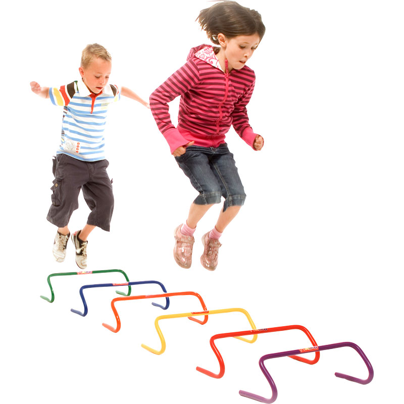 First Play 10cm Rainbow Hurdles Pack of 6