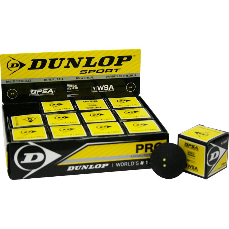 Dunlop Pro Squash Balls Pack of 12