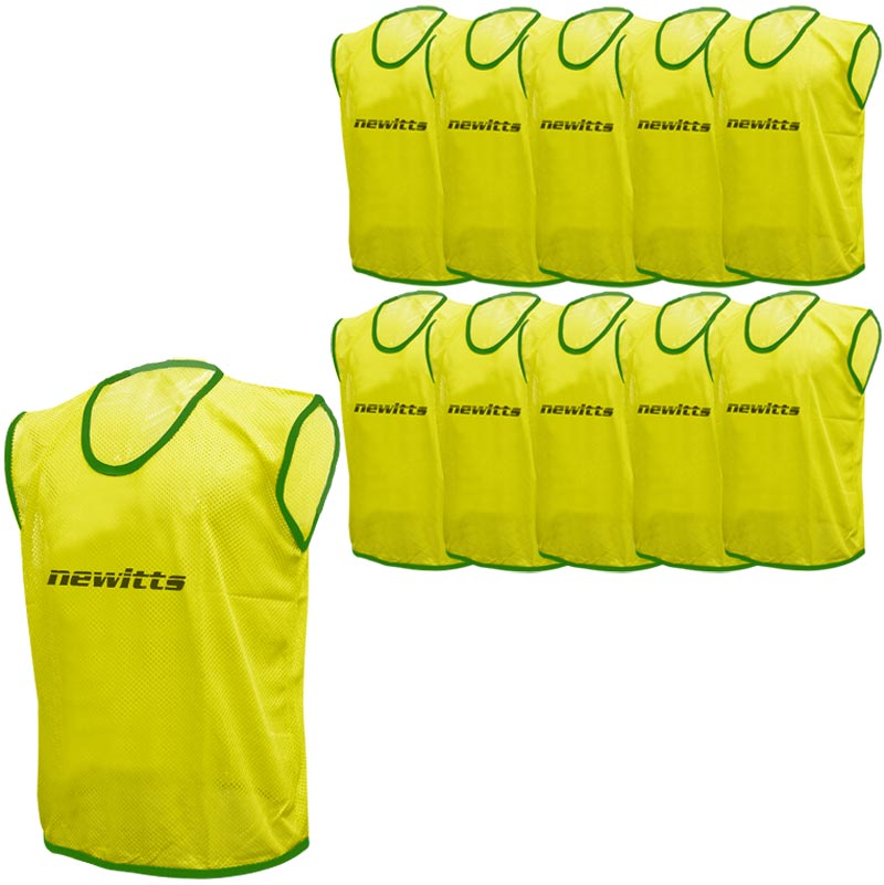 Plain Training Bibs 10 Pack Yellow