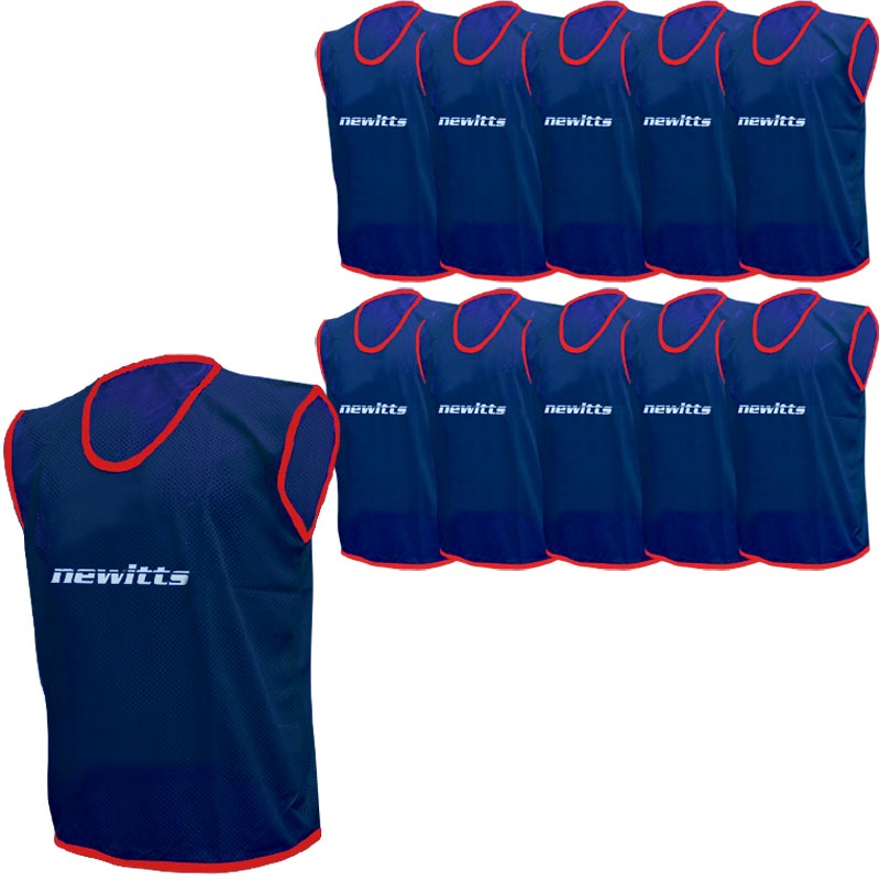 Plain Training Bibs 10 Pack Navy
