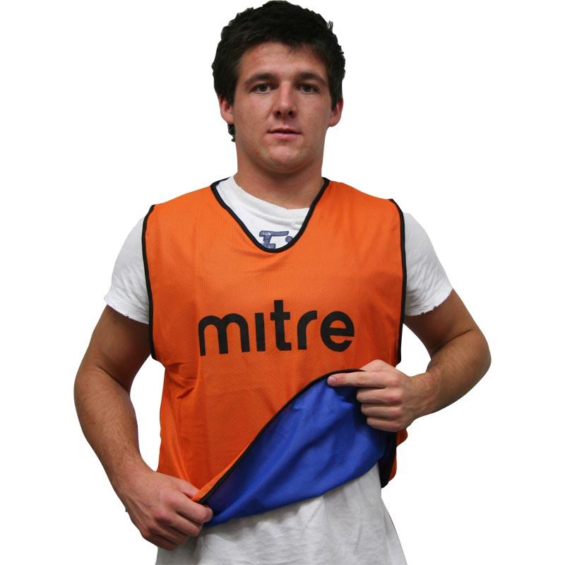 Mitre Pro Reversible Bib Orange/Blue