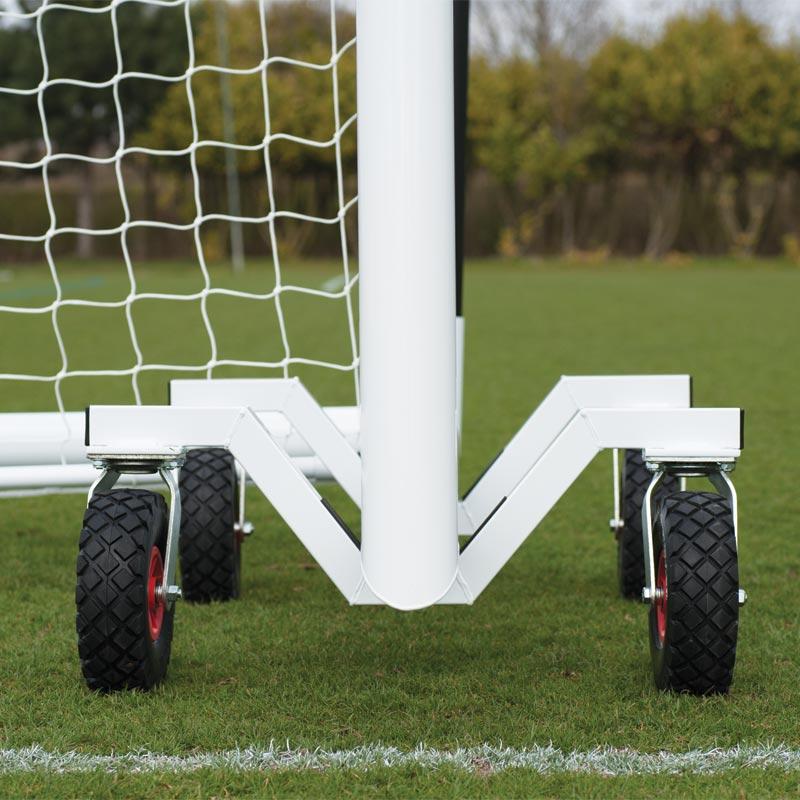 Harrod Sport 360 Football Goal Post Trolley Set of 4
