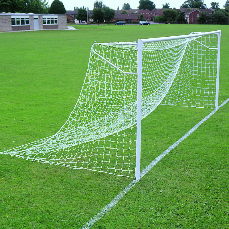 Harrod Sport 24ft x 8ft Lock Socketed Super Heavyweight Steel Football Posts