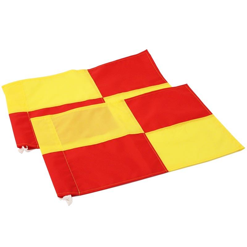 Harrod Sport Linesmans Chequered Flags Pair