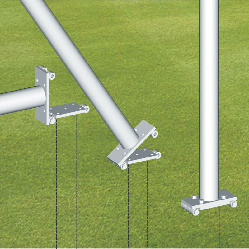 Harrod Sport Rugby Post Hinge Adaptors