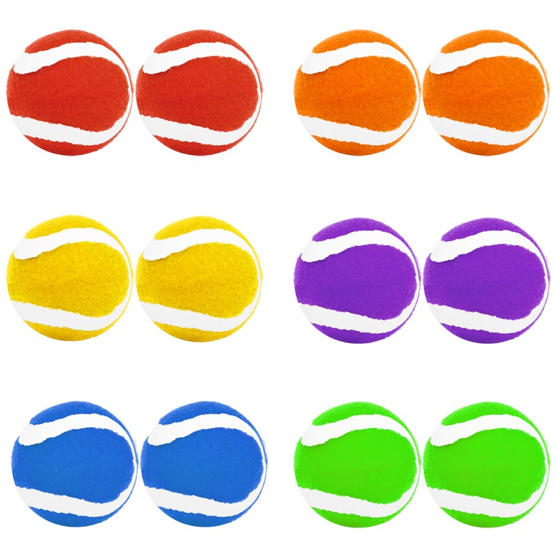 PLAYM8 Coloured Tennis Ball 12 Pack 6.5cm