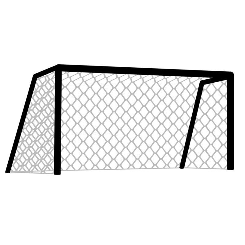 Harrod Sport Floor Fixed Aluminium Football Post Nets 10ft x 7ft