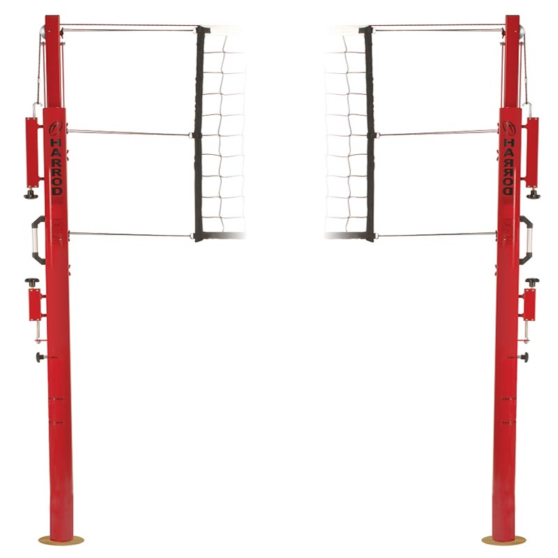 Harrod Sport Socketed Competition Telescopic Volleyball Posts