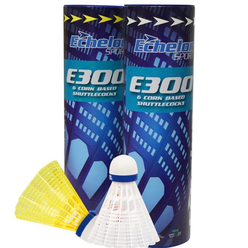 Echelon E300 Badminton Shuttlecocks 6 Pack