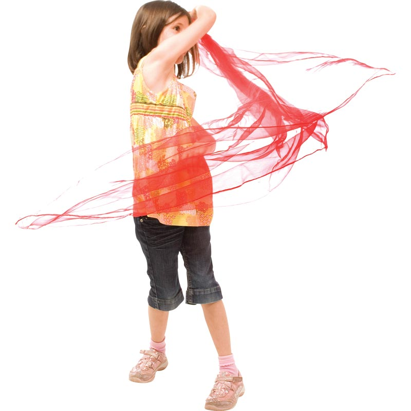 PLAYM8 Dance and Juggling Scarves 6 Pack 1.8m