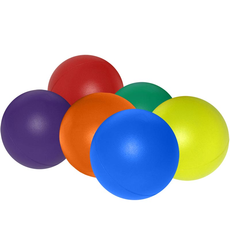 PLAYM8 Coated Foam Ball 6 Pack 7cm