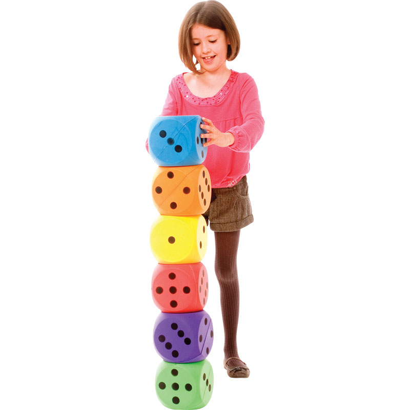 PLAYM8 Foam Dice 6 Pack 15cm