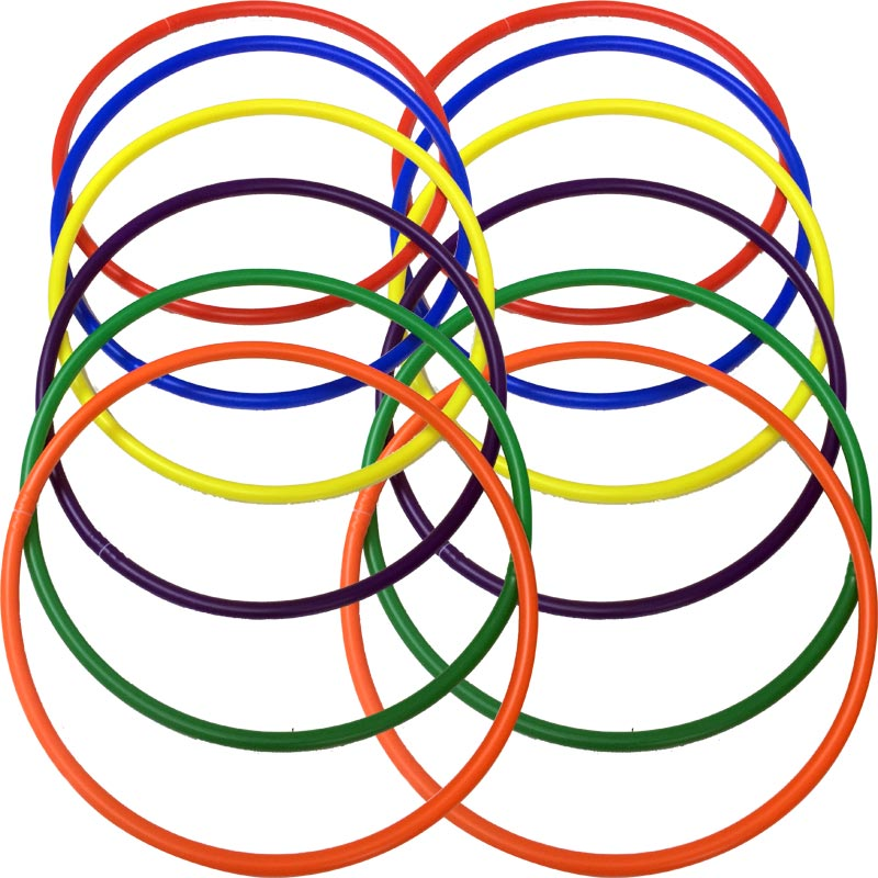 PLAYM8 Hula Hoop 12 Pack 63cm