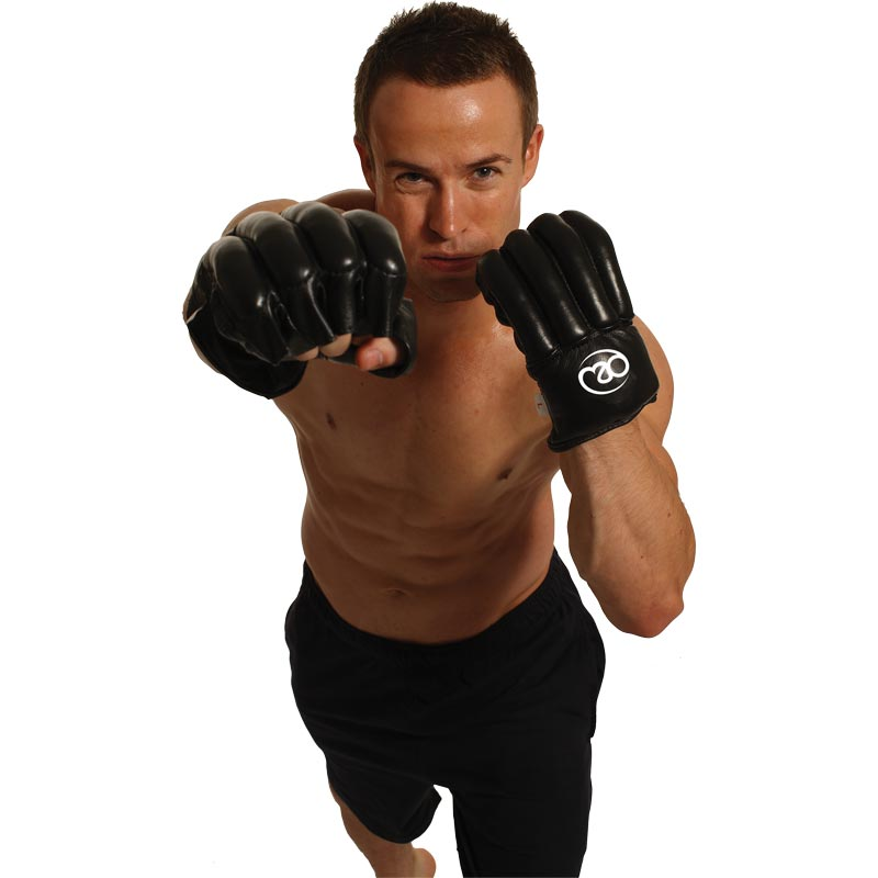 Fitness Mad Fingerless Leather Punch Bag Mitts