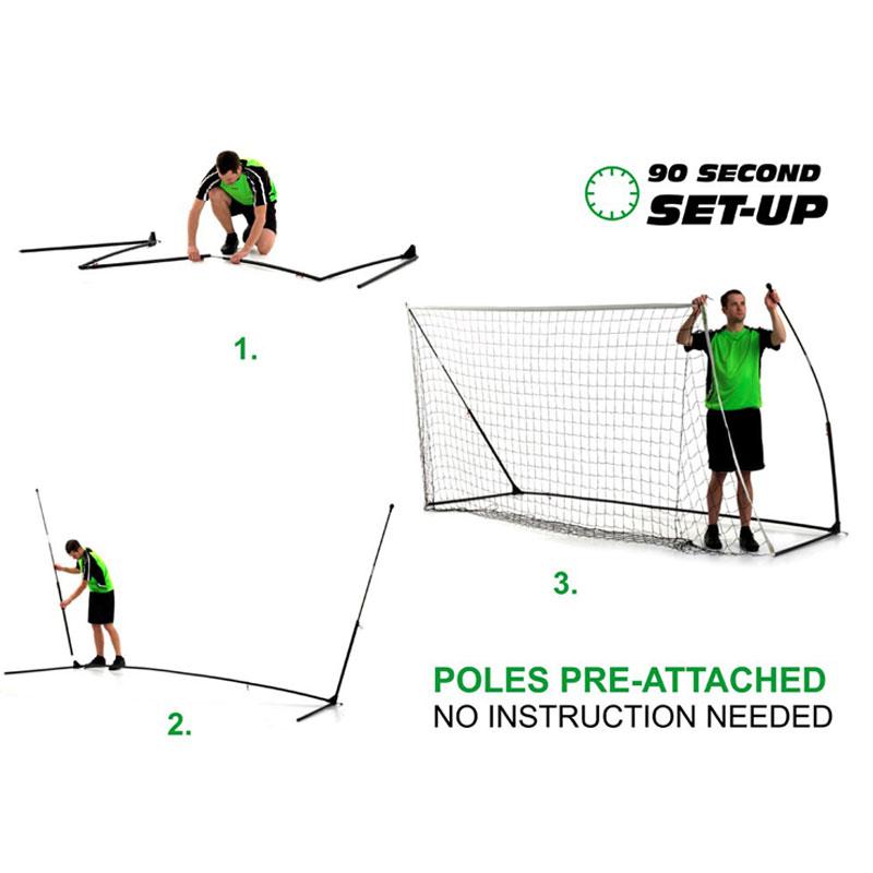 Quickplay 6ft x 4ft Kickster Academy Portable Football Goal