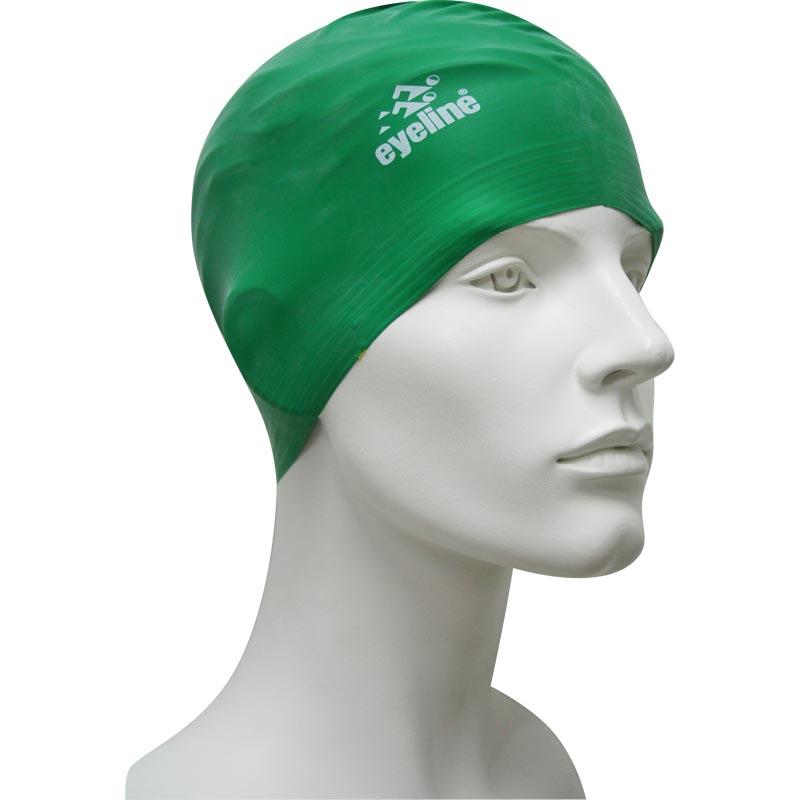 Eyeline Senior Latex Swimming Cap Green