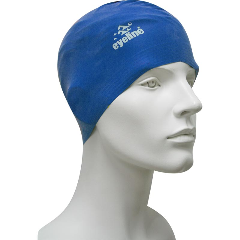 Eyeline Senior Latex Swimming Cap Blue