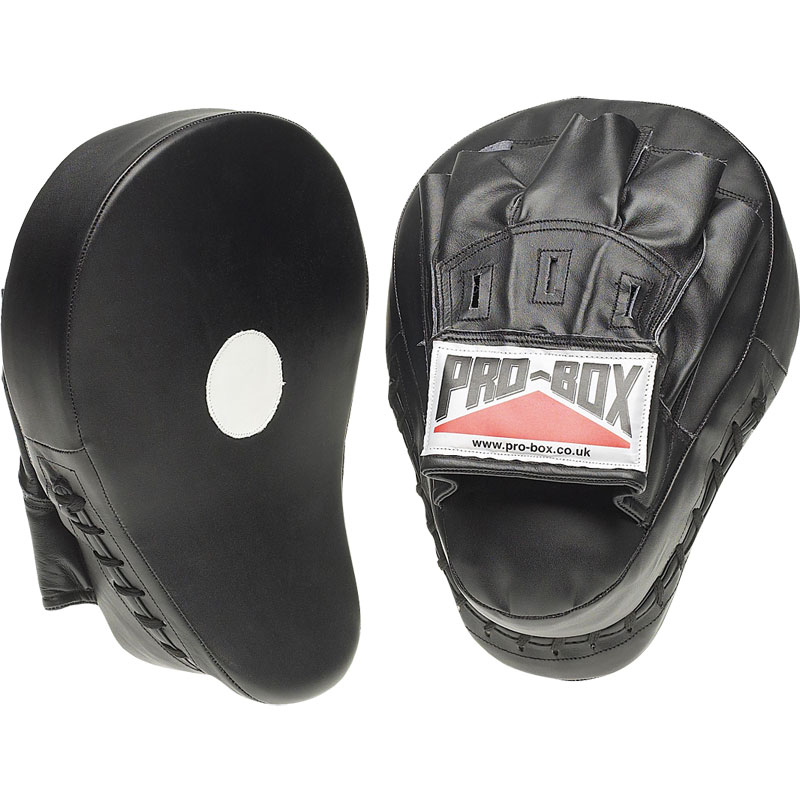 Pro Box Curved Hook and Jab Pads Black Collection