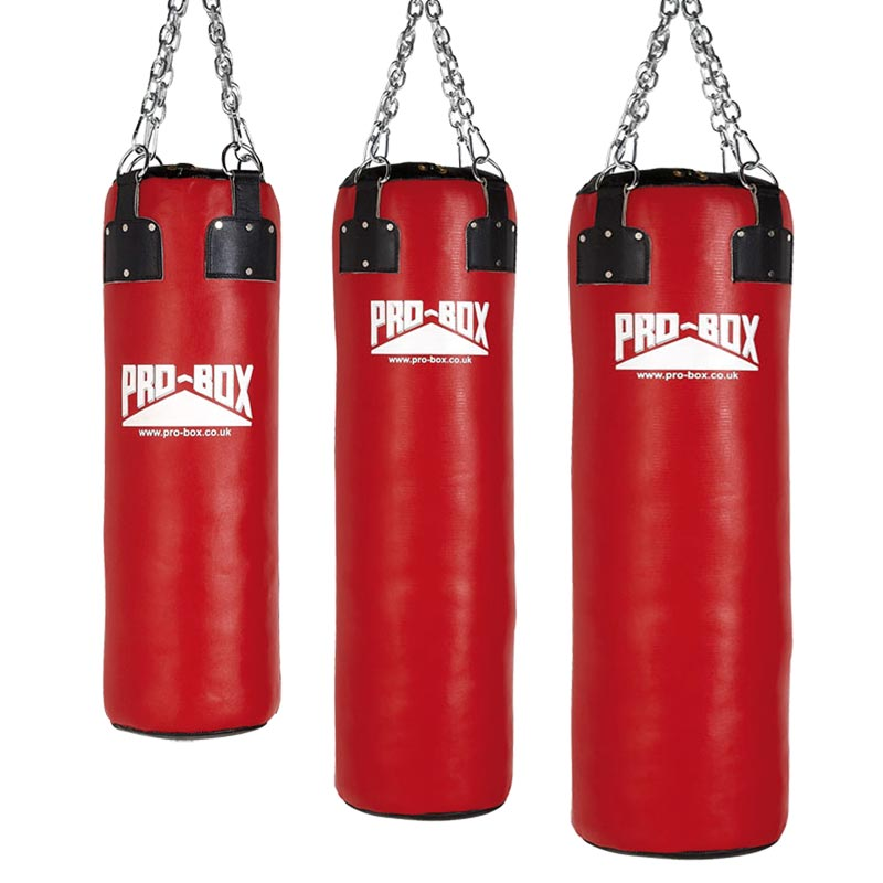 Pro Box Leather Punch Bag Red Collection