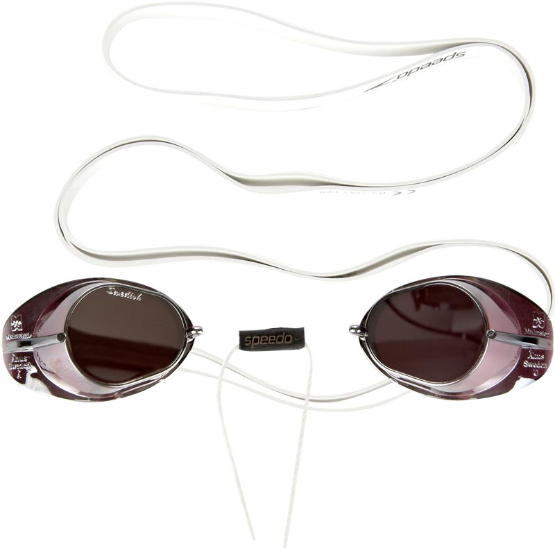 Speedo Swedish Mirror Swimming Goggles White/Mirror