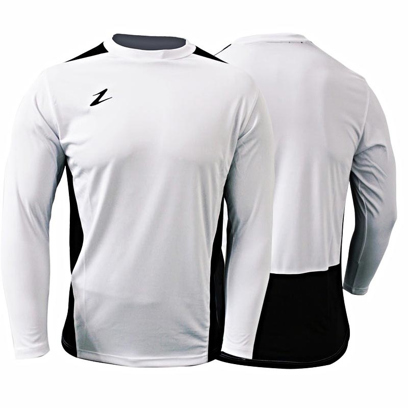 Ziland Team Long Sleeve Junior Football Shirt White/Black