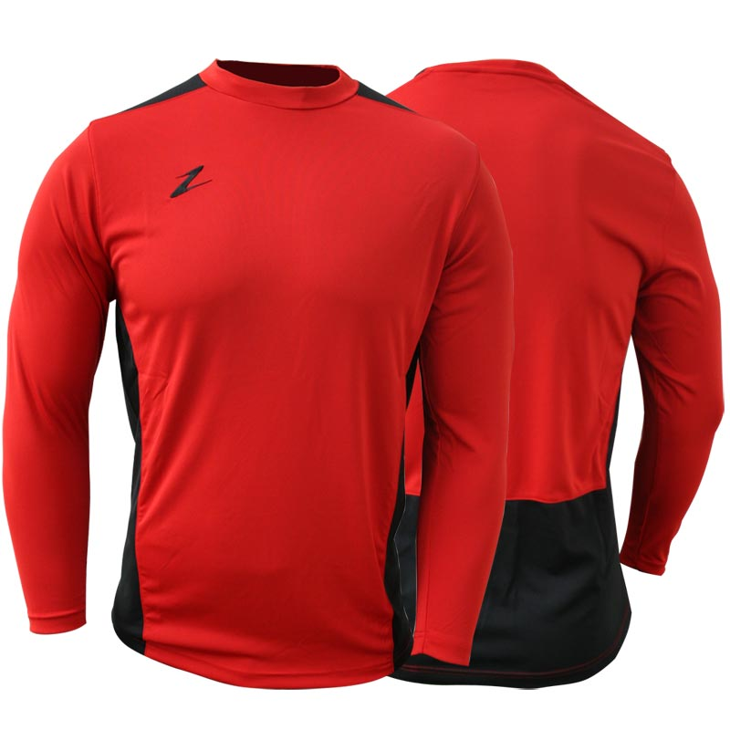 Ziland Team Long Sleeve Junior Football Shirt Red/Black