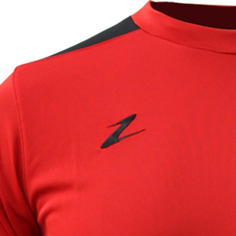 Ziland Team Long Sleeve Senior Football Shirt Red/Black
