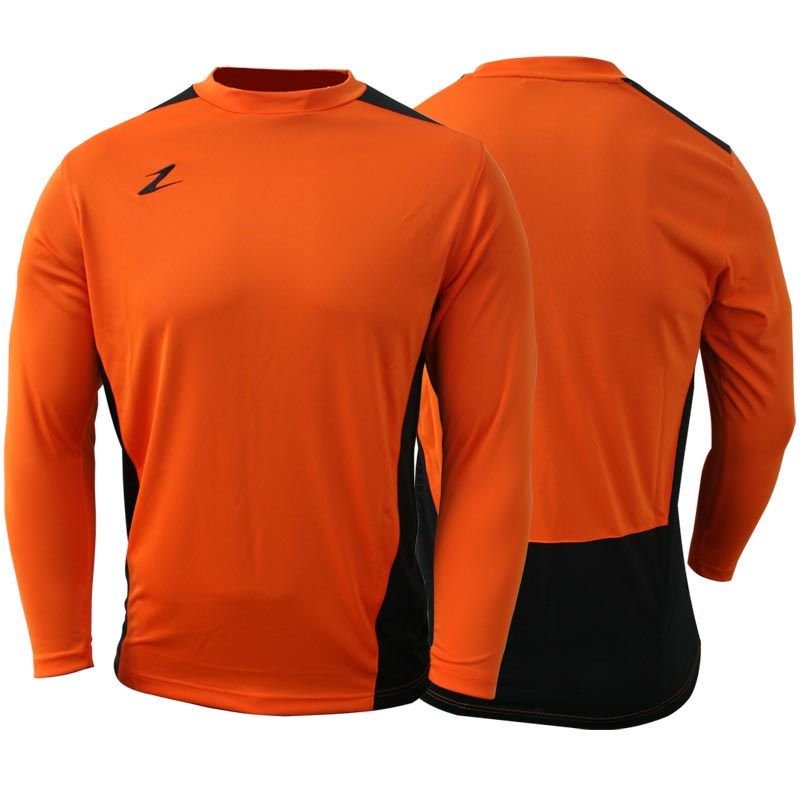 Ziland Team Long Sleeve Junior Football Shirt Orange/Black
