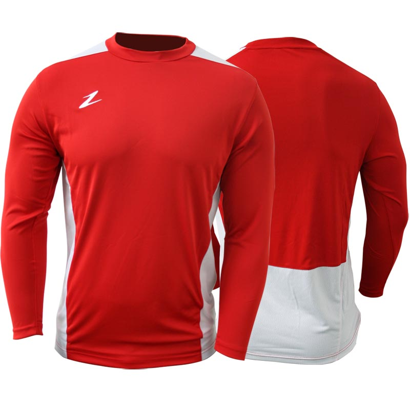 Ziland Team Long Sleeve Junior Football Shirt Red/White