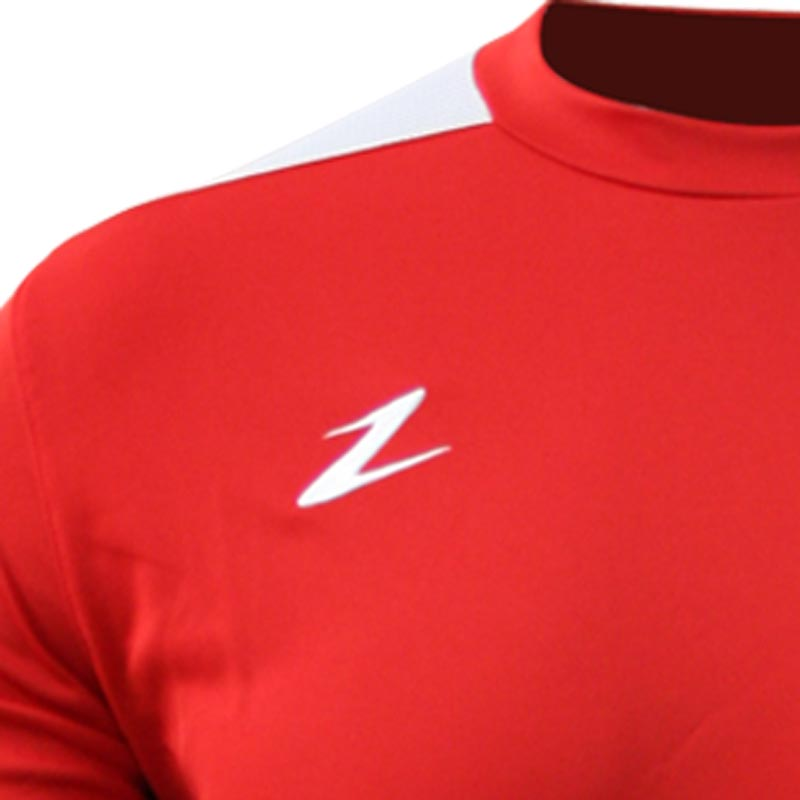 Ziland Team Long Sleeve Junior Football Shirt Red/White