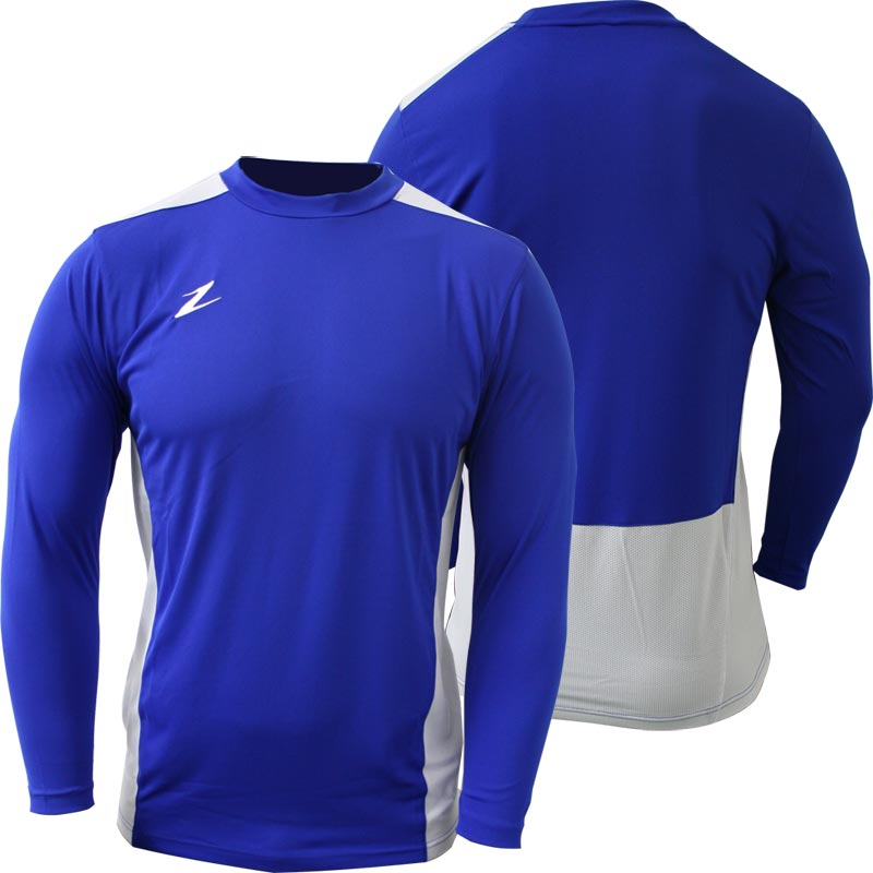 Ziland Team Long Sleeve Junior Football Shirt Blue/White