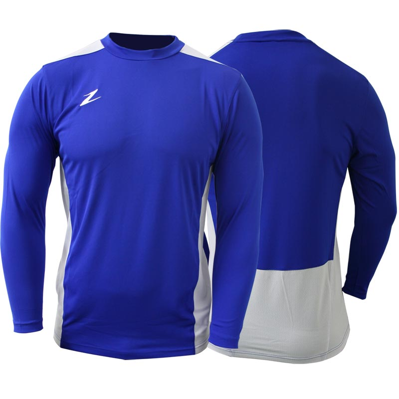 Ziland Team Long Sleeve Senior Football Shirt Blue/White