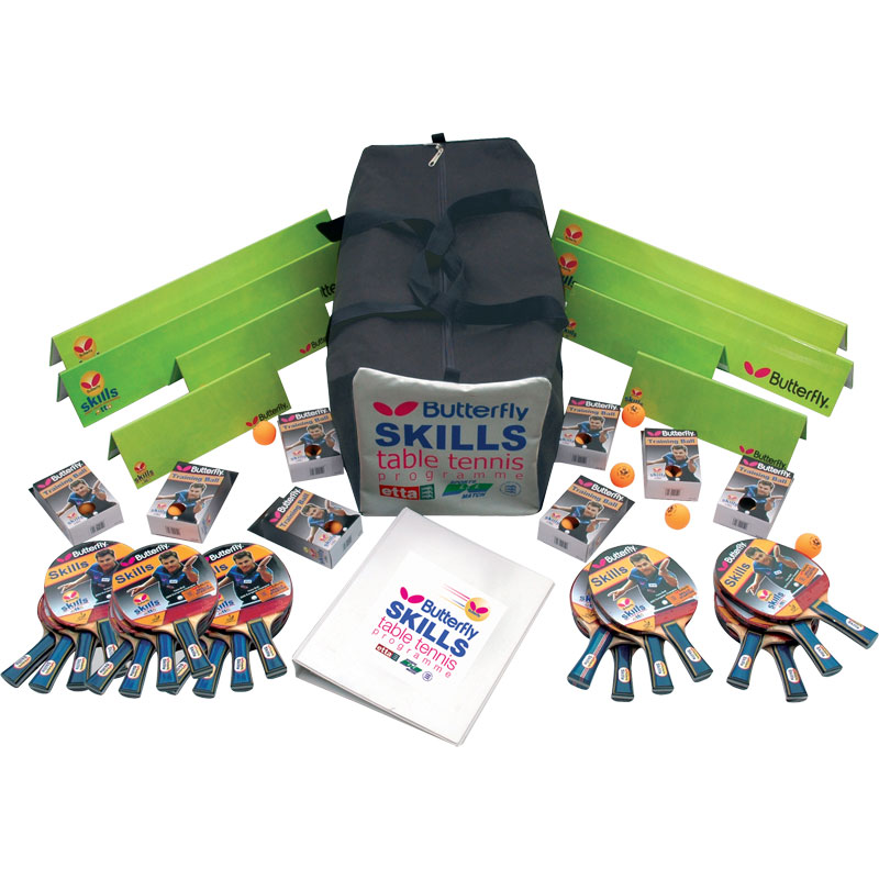 Butterfly Skills Key Stage 1 and 2 Table Tennis Set