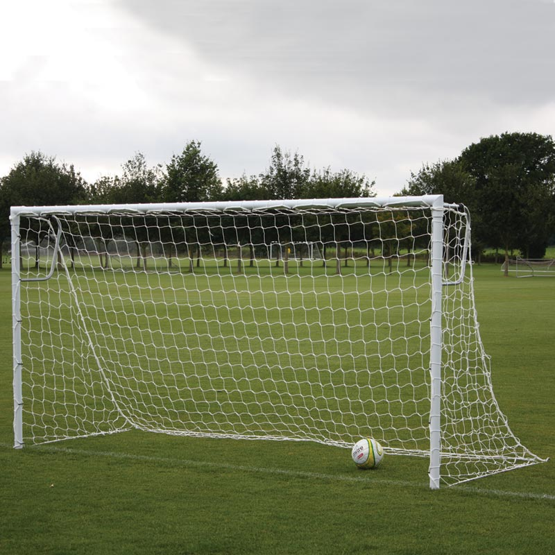 Harrod Sport 16ft x 6ft Socketed Heavyweight Steel Football Posts