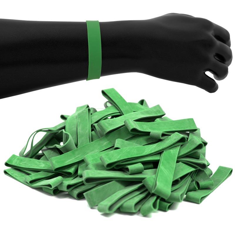 JPL Rubber Wristbands 100 Pack Green