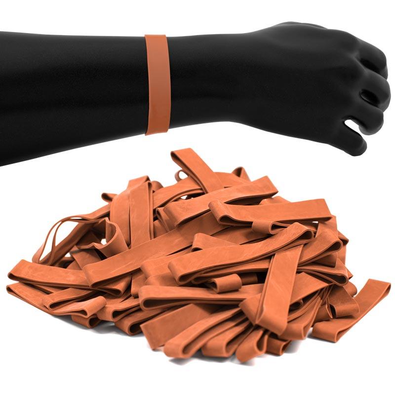 JPL Rubber Wristbands 100 Pack Orange