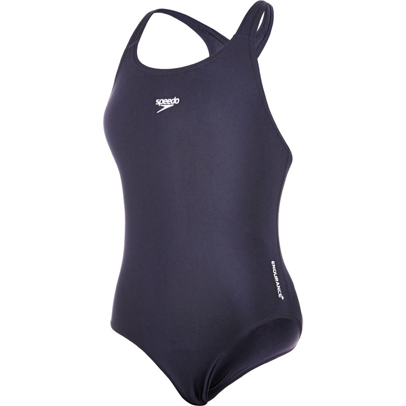 Speedo Girls Endurance+ Medalist Swimsuit Navy
