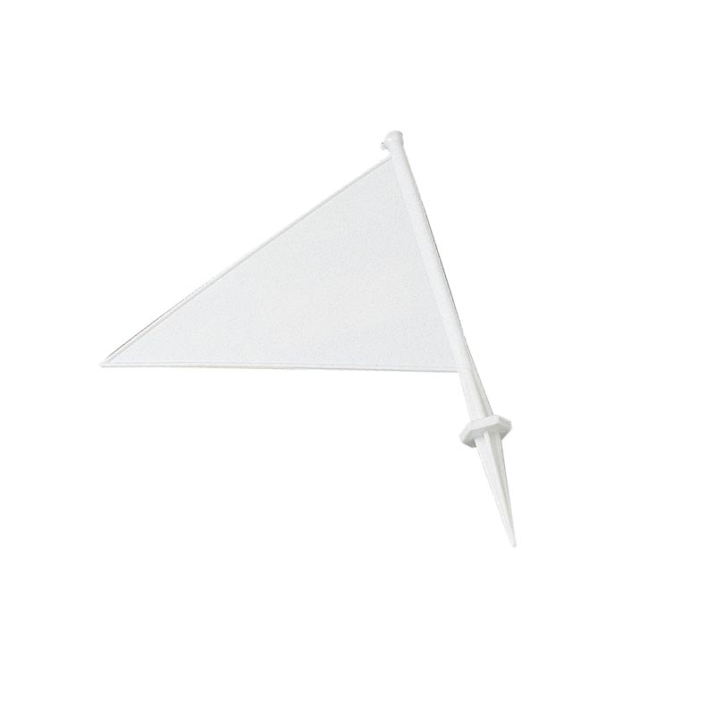 Cricket Plastic Marking Flag White 21cm