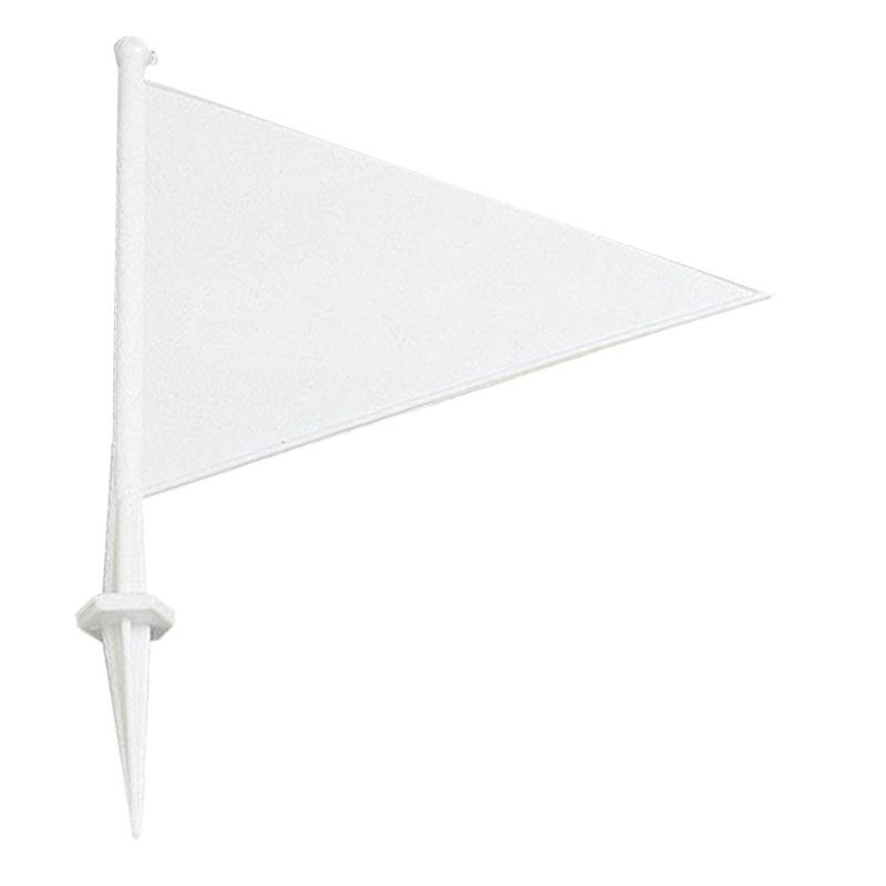 Cricket Plastic Marking Flag White 21cm