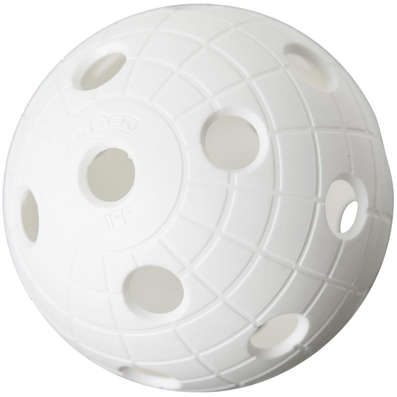 Unihoc Floorball Perforated Ball White