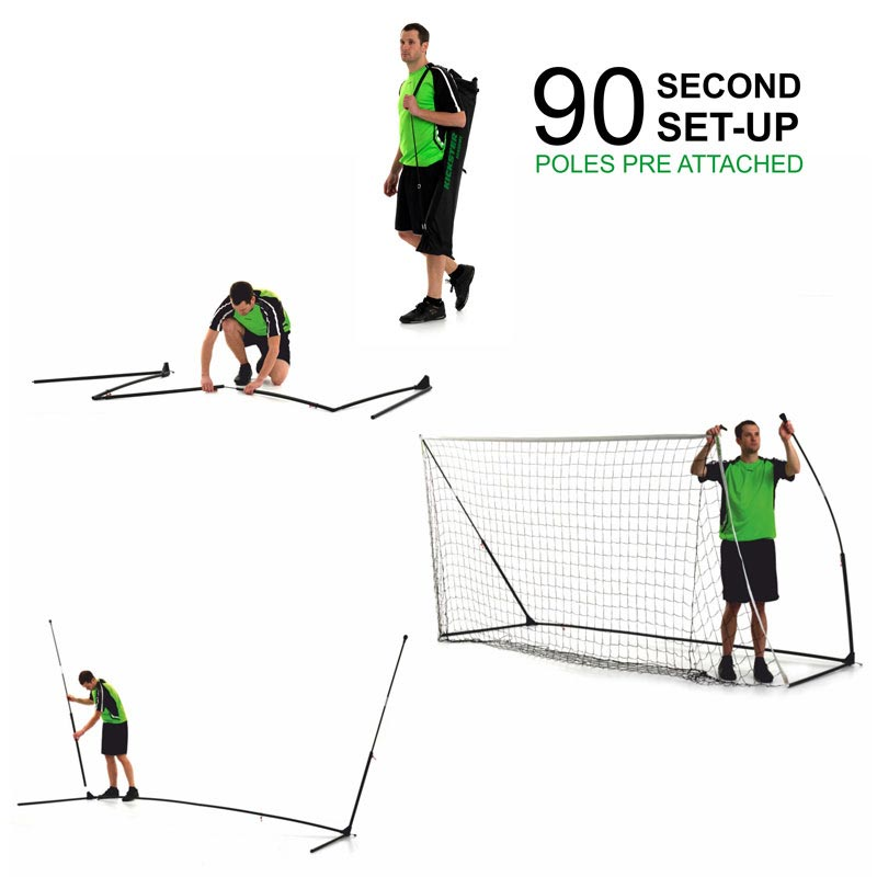 Quickplay 16ft x 7ft Kickster Academy Portable Football Goal