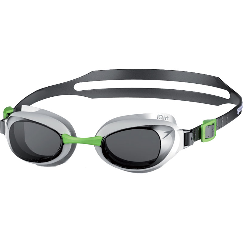 Speedo Aquapure Mirror Swimming Goggles White/Smoke