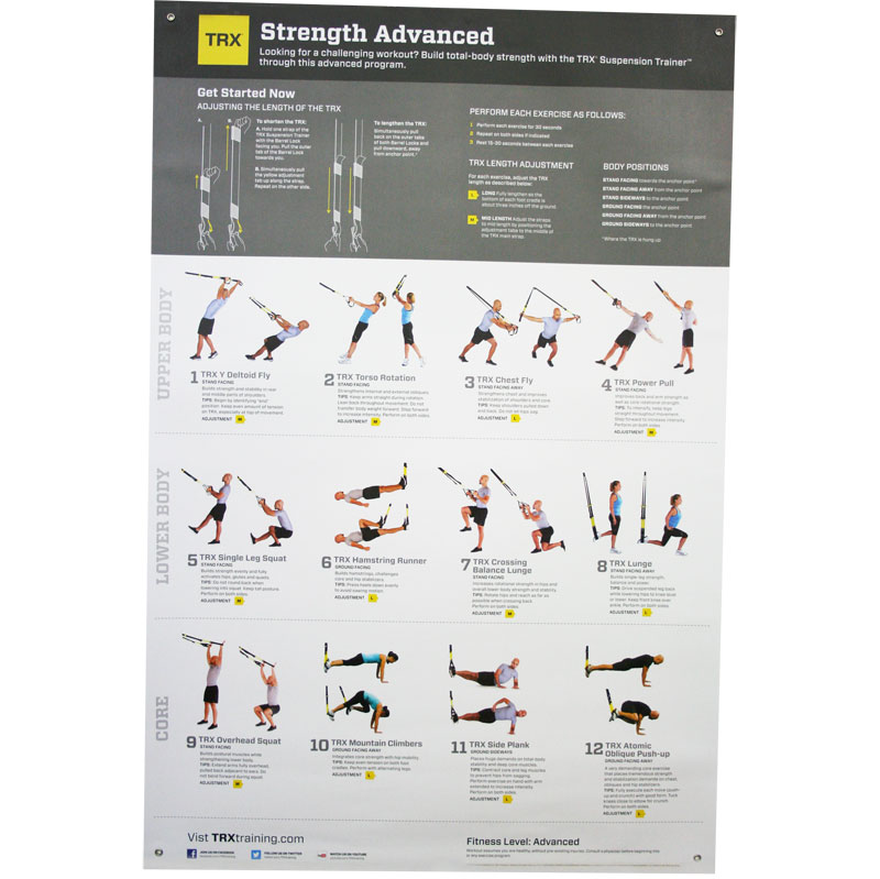 TRX Body Strength Posters V2