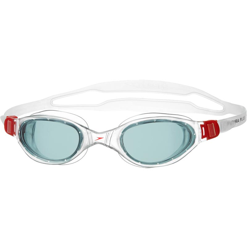 Speedo Futura Plus Swimming Goggles Red/Smoke