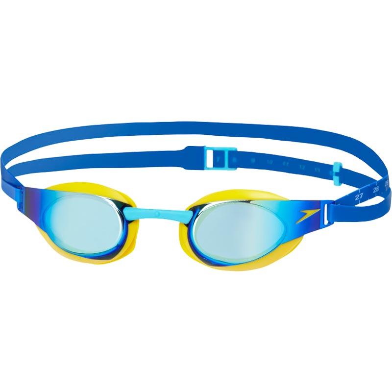 8fba3ebec0d Speedo Junior Fastskin Elite Mirror Swimming Goggles Empire Yellow Blue.  Tap to expand