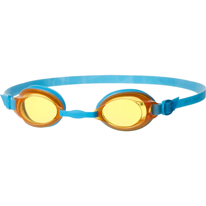 Speedo Junior Jet Swimming Goggles Japan Blue/Sunset