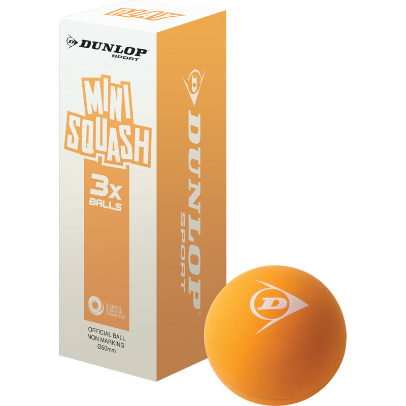 Dunlop Play Mini Squash Balls Pack of 3